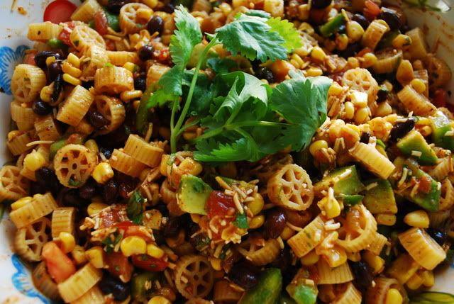 wagonwheel taco pasta salad | Food | Pinterest