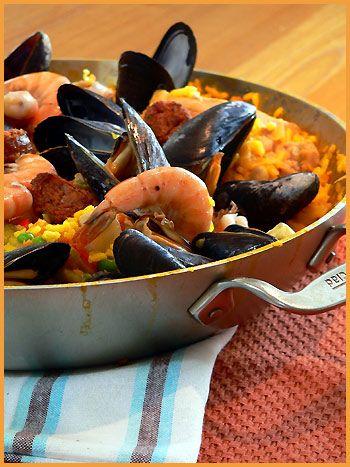 Paella. (Follow the link to Béa Peltre's recipe.)