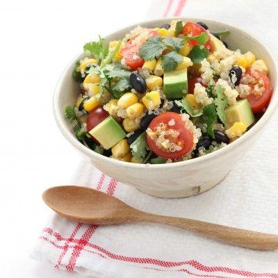Black Bean, Avocado, Cucumber and Tomato Salad