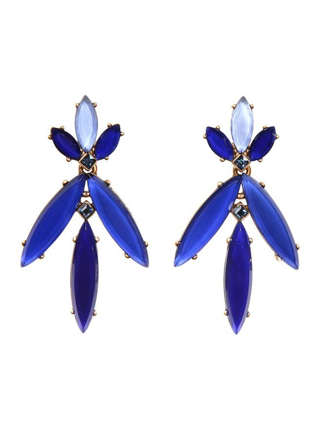 MARQUISE STONE RESIN EARRINGS Oscar de la Renta