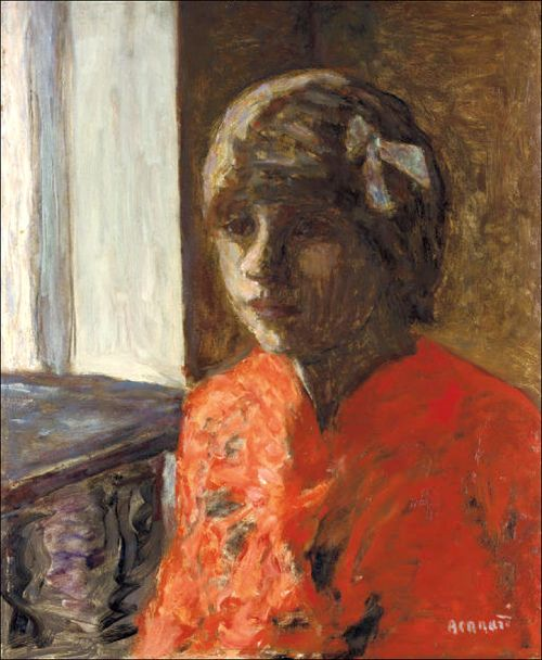 Pierre Bonnard (1867-1947) Marthe Bonnard en corsage rouge (by BoFransson)