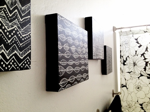 Black white canvas art 2017 grasscloth wallpaper for Diy canvas art black and white