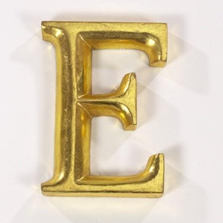 gold gilded letter e my art decor pinterest With gold letter e
