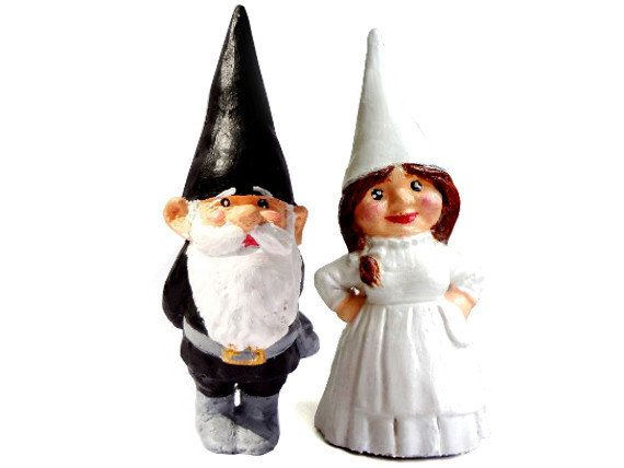 Gnome Wedding Cake Toppers