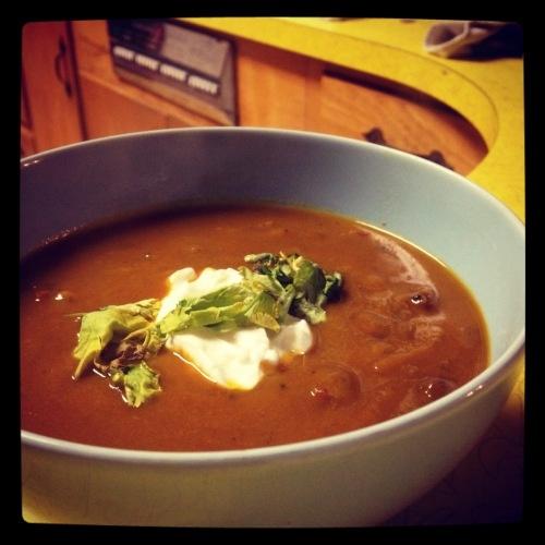 Spicy chipotle pumpkin soup | good food | Pinterest