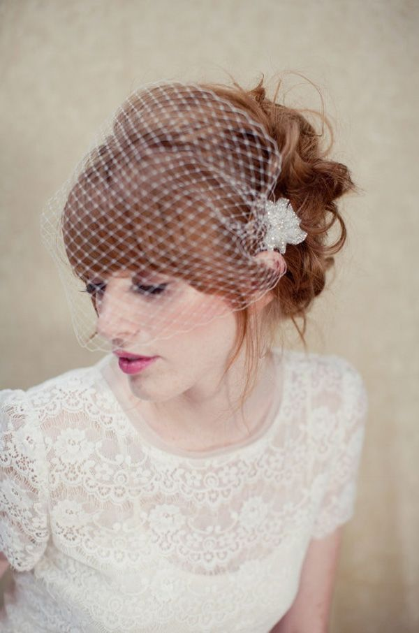 bridal hairstyles with fringes - Read more on One Fab Day: http ...