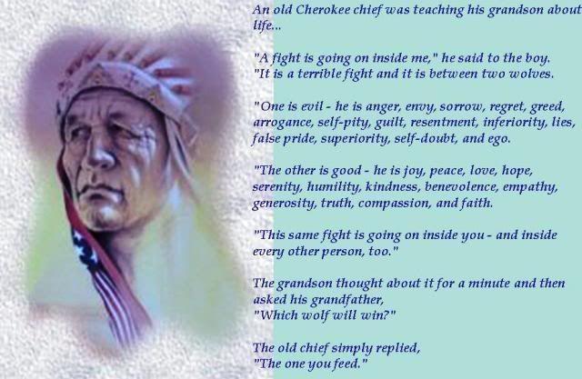 cherokee philosophy quotes quotesgram