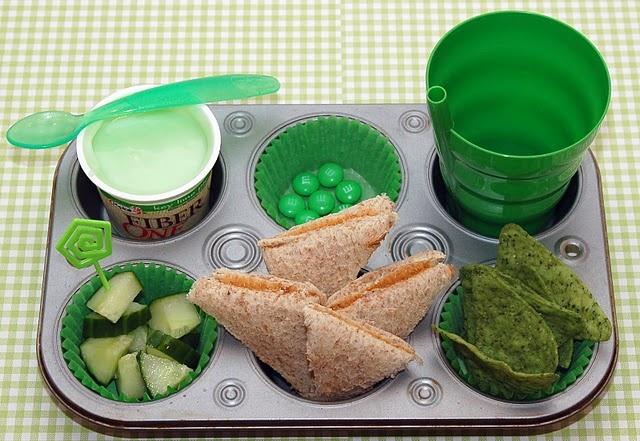 M&M;'s green peanut butter and jelly sandwich lunch lunchbox school yogurt