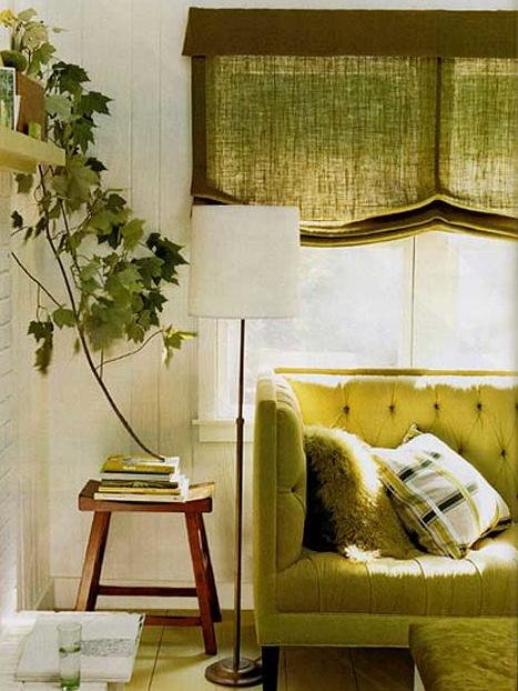 linen window shades