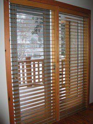 Put Up Wood Blinds Over Patio Doors Interior Design