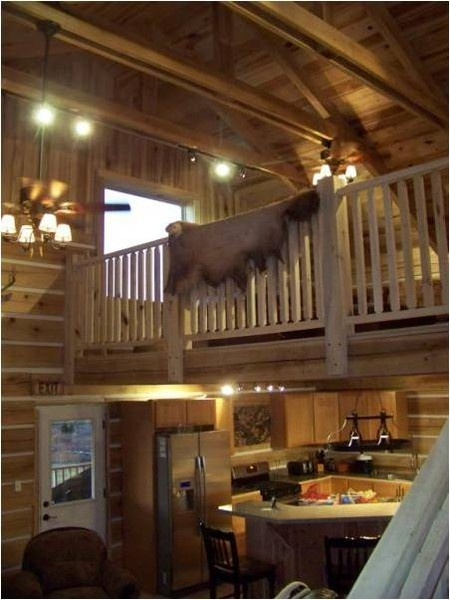 Log Cabin With A Loft Dream Home Pinterest