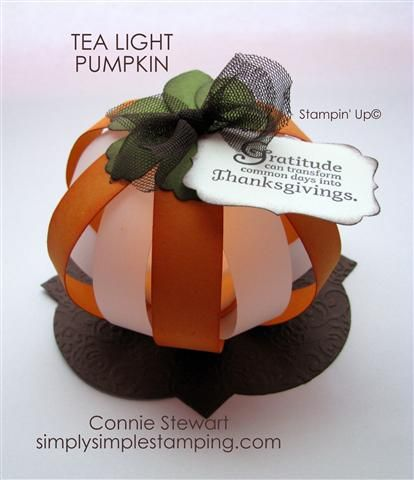 Tea Light pumpkin - it glows orange but you can't see it in the picture.  There is a video on the website to make this!