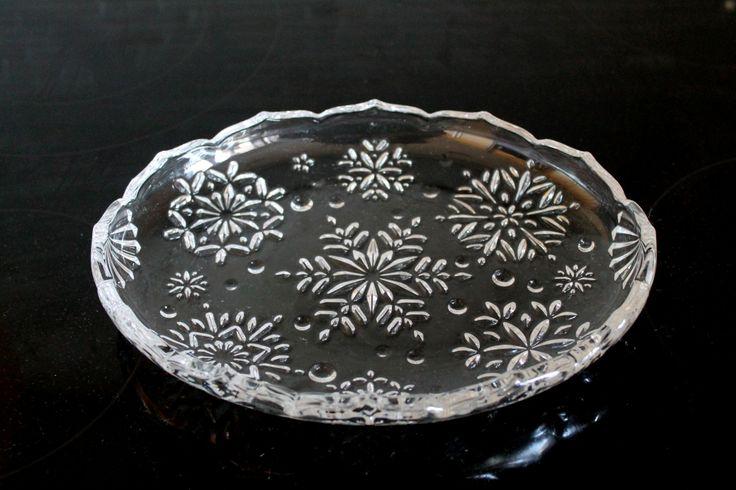 Mikasa Snowflake crystal relish dish. | Vintage Candy Dishes | Pinter ...