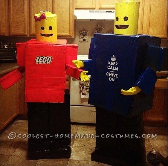 Awesome Homemade Lego Minifigure Couple Costume... Homemade Costume Contest