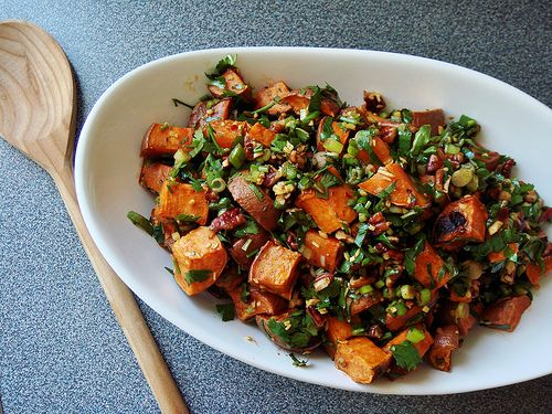 Herb & Ginger Roasted Sweet Potato | Sassy sides. | Pinterest