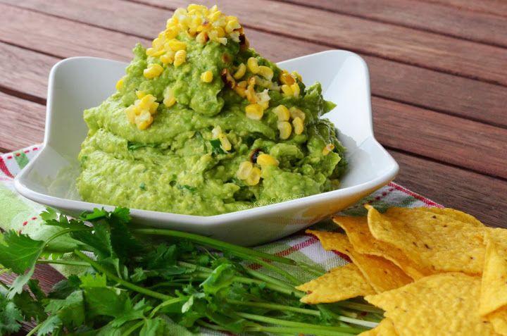 Grilled Corn & Poblano Guacamole