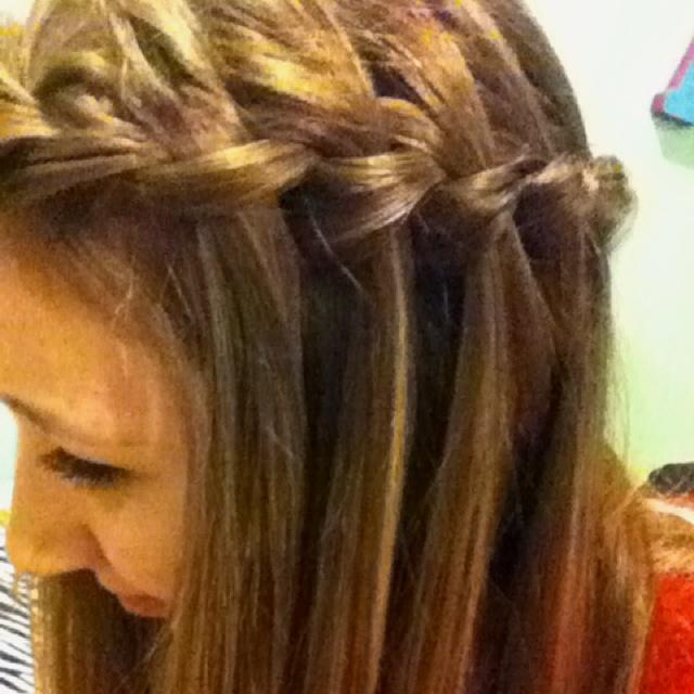 Waterfall french braid hair styles pinterest
