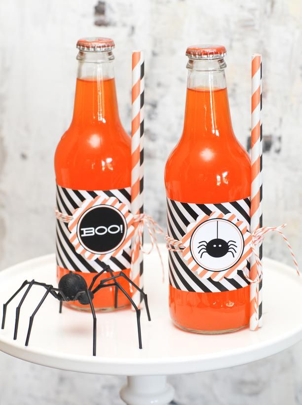 Cute soda labels for a Halloween party @HGTV