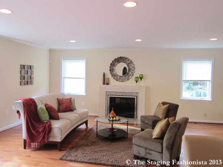 Staged living room home staging ideas pinterest for Staged living room ideas