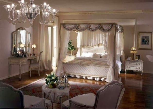 Dream romantic bedrooms with canopy beds home tweet home for Elegant princess bedroom