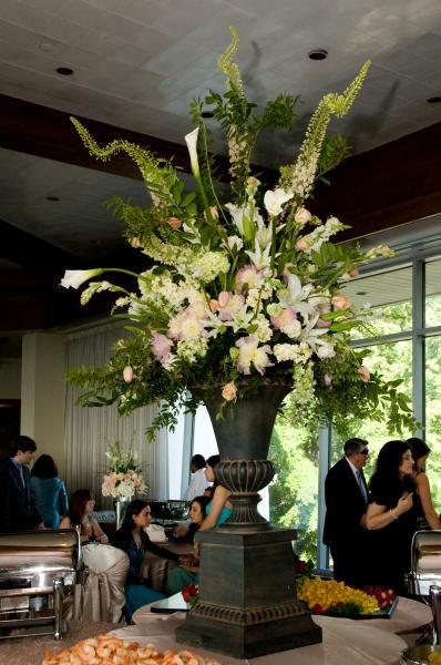 Food Table Centerpiece Arrangement Wedding Decor Pinterest