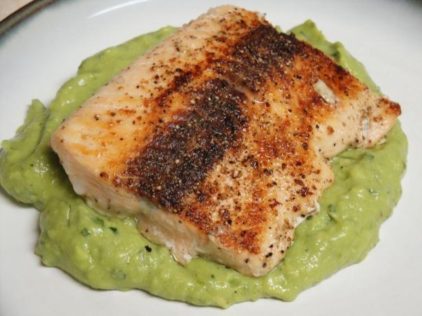 Pan Seared Salmon With Avocado Remoulade Recipes — Dishmaps