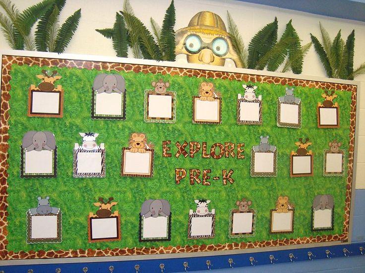 cute jungle bulletin board | Bulletin boards | Pinterest