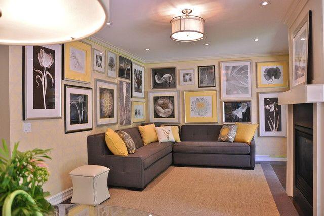 Yellow Gray Black White Living Room Pinterest
