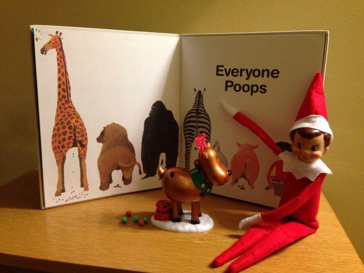 Everyone Poops | Elf On The Shelf Ideas | Pinterest