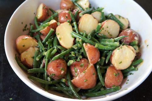 Lemony potato and green bean salad | chinese grandma.com