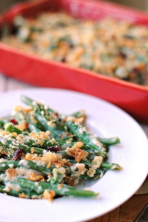 Skinny Green Bean Casserole // Eat Yourself Skinny #Thanksgiving #side ...