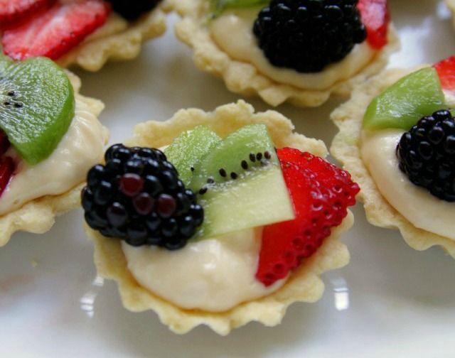 Mini Fruit Tarts for dessert. Enjoy with Sutter Home Sweet Wine!