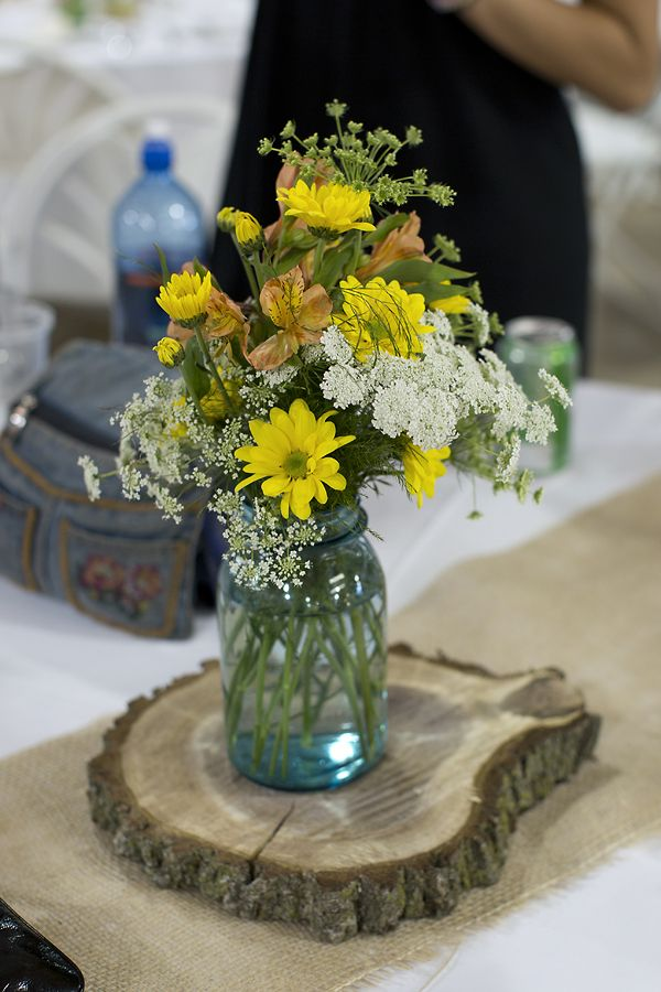 Rustic centerpiece mason jar event ideas pinterest