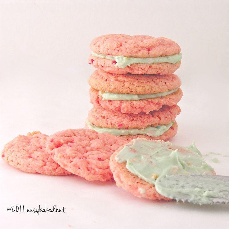 Strawberry Cake Mix Cookies! | eASYbAKED | Cookies Galore | Pinterest