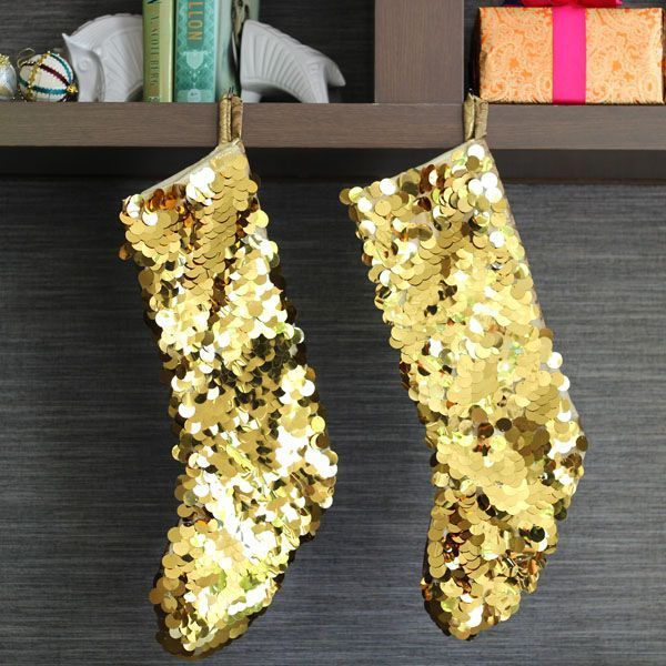 Sequin Stocking Homemade Christmas Stockings From