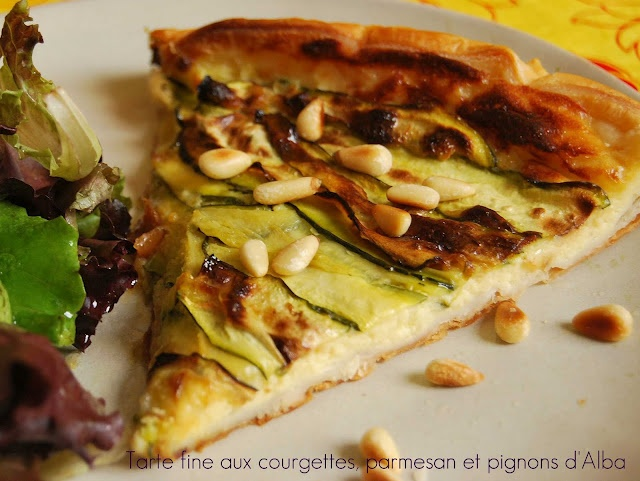 Crunchy zucchini, parmesan and pine nut tart @Very Easy Kitchen