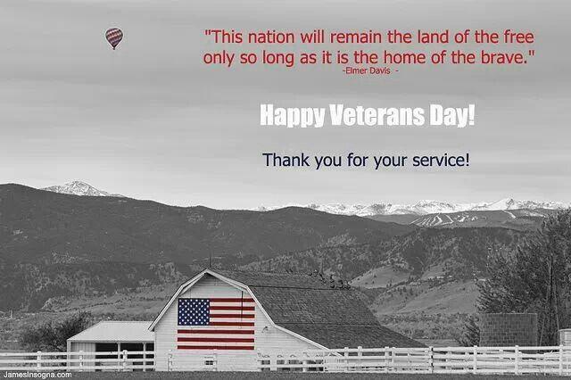 us flag on veterans day