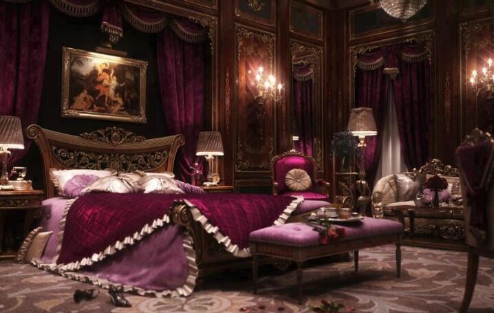 Decorar Habitaciones Vintage ~ Purple bedroom  Bedroom Boudoir s  Pinterest