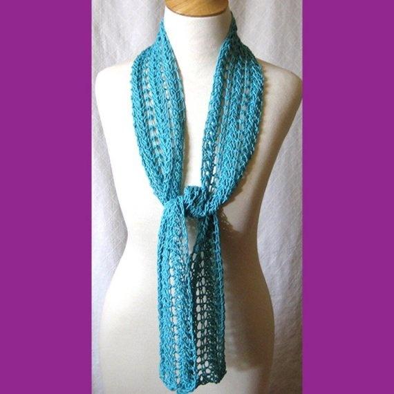 Lace Zig Zag Scarf Knitting Pattern : Summer scarf knitting pattern zigzag lace plus tutorials instant