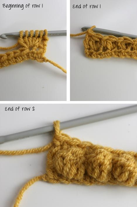 Crochet Stitches Bobble : Bobble stitch Crochet stitches, motifs, techniques & charts Pint...