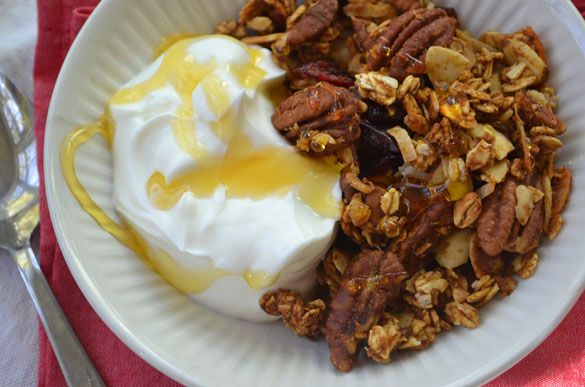 Fall is in the Air~Pumpkin Pie Granola from Dinner with Julie