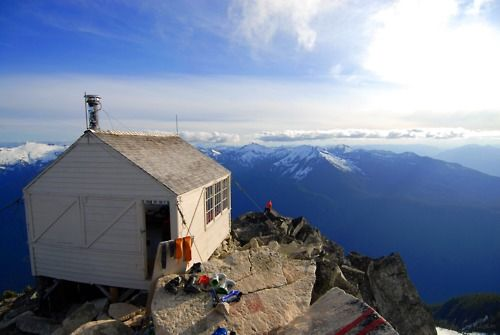 Fire lookout in the Cascade Mountains of Washington state. Photographed by Mike Conlan.