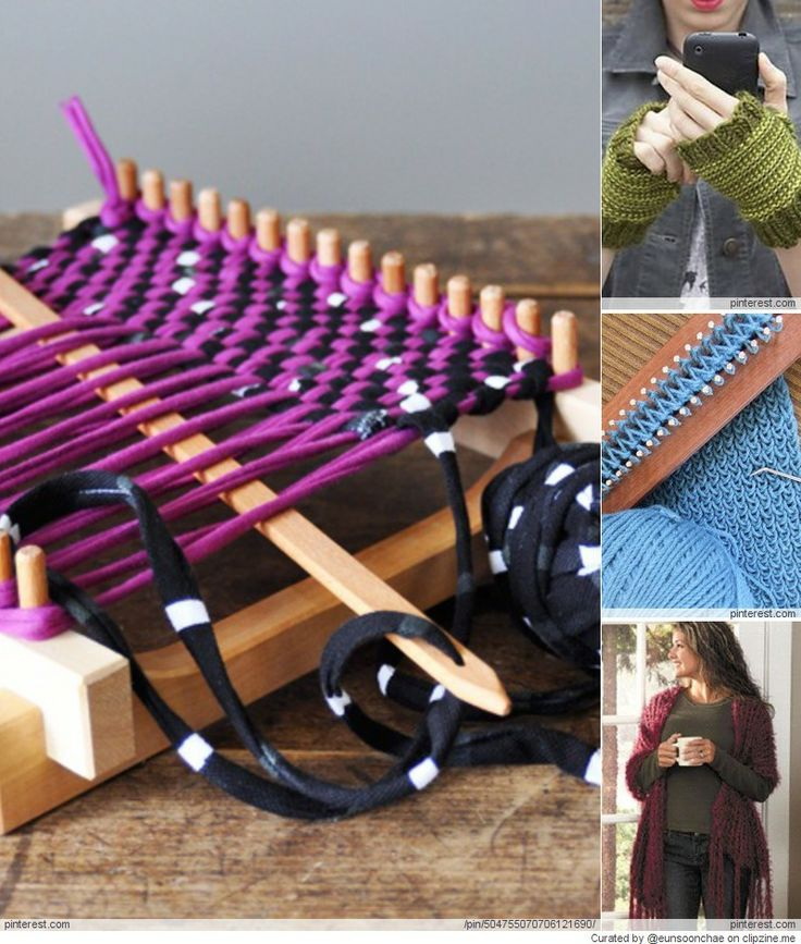 Knitting Loom Ideas : Loom knitting projects crafts pinterest