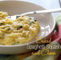 Baked Spaghetti Squash & Cheese | Food stuffs | Pinterest