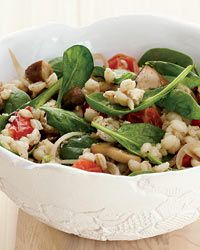 Barley-and-Spinach Salad with Tofu Dressing Recipe from Food & Wine ...