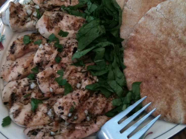 Chicken Gyros with Cucumber Salsa and Tsatsiki http://www.lulusdish ...