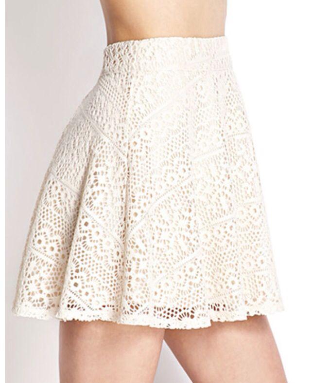 high waisted lace skirt summer