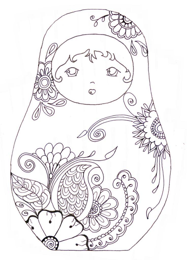 matroyshka dolls coloring pages - photo#4