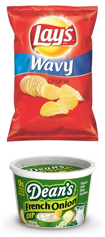 Chips & Dip (Lays wavy and french onion dip)