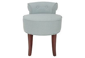 Would love to have this blue vanity stool.